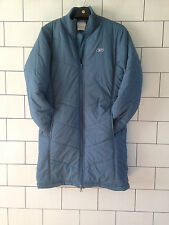 WOMENS URBAN VINTAGE RETRO BLUE REEBOK ATHLETIC TRENCH COACH COAT SIZE UK 10