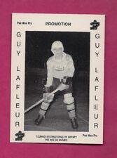RARE 1992 # P1 THURSO GUY LAFLEUR PEEWEE PROMO MINT CARD  (INV# A7460)
