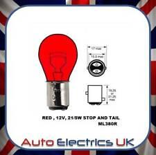 10x RED PACK BRAKE - STOP / TAIL LIGHT BULB LLB380 12v 21/5 W BAY15D 380 2 PIN