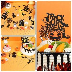 Party Supplies Halloween Style Baking Decoration Cake Topper Set Cupcake Decor