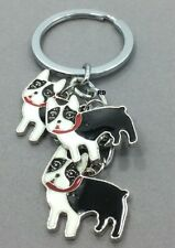 Boston Terrier Lovers Key Chain or Purse Charm 3 Dogs (Clearance )