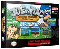 SNES Data East Joe and Mac Collection Video Game Cartridge [3 Games]