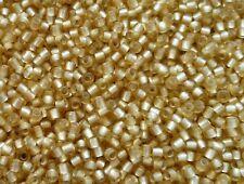 TOHO 11/0 Rocailles 2,2mm 10g 20g mattiert Gold Topaz mit Silbereinzug Code: 22F