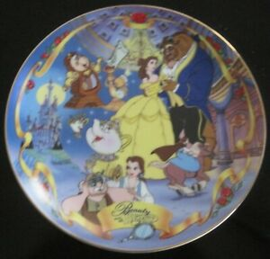 Bradford Exchange Disney Musical Memories Beauty and the Beast Collectors Plate