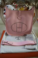 100% Authentic Hermes Evelyne GM III Clemence - Rose Sakura Shoulder Bag