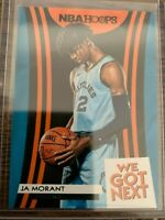 JA MORANT WE GOT NEXT INSERT PANINI NBA HOOPS 2019-20 ROOKIE CARD RC #19 ROY