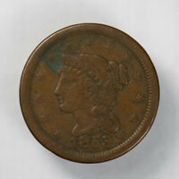 1853 BRAIDED HAIR 1C LARGE CENT ** NICE DETAIL Lot#J073
