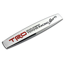 TRD Racing Sports Car Auto Emblem Badge Sticker Fender Chrome for Toyota