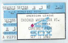 Lamar Hoyt 20th win, Bob Boone HR, Fisk ticket stub; Angels at White Sox 9/11/83
