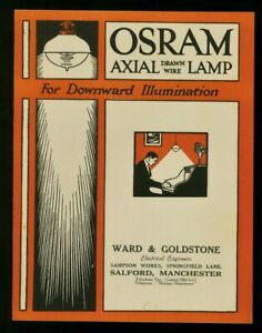 1914 ~OSRAM Light Globes Brochure ~Axial Lamps for Downward Illumination