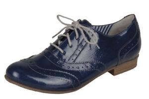 Remonte R4809 Blue Ladies Lace Up Shoes EU Sizes 42 (UK Size 8)