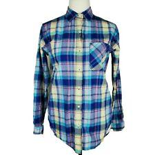 RALPH LAUREN Denim & Supply Plaid RL Boyfriend Button Shirt Size Small