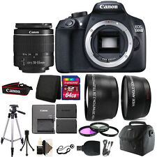 Canon EOS Rebel 1300D DSLR Camera + 18-55mm Lens + Extra Battery & Accessories