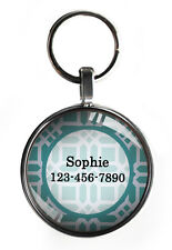 New listing One inch light blue pet tag for small dogs custom personalized steel backing new
