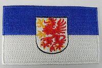 Vorpommern Aufnäher gestickt,Flagge Fahne,Patch,Aufbügler,6,5cm,neu