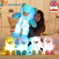 LED Teddy Bear Stuffed Animals Plush Toys Creative Baby Kids Girls Gifts