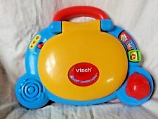Vtech Baby's Learning Laptop Blue Yellow Developmental Baby Toy Lights Up Shapes