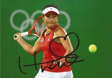 TENNIS: NAO HIBINO SIGNED 6x4 RIO 2016 OLYMPICS ACTION PHOTO+COA *WIMBLEDON*