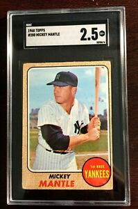 1968 Topps Mickey Mantle #280 SGC 2.5