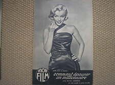 MARILYN MONROE COVER 1954 IN COPERTINA FRENCH MAGAZINE MON FILM CINEROMANZO