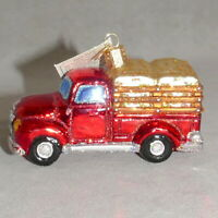 Christmas Ornament Glass OWC OLD WORLD CHRISTMAS POLONAISE Glitter Truck