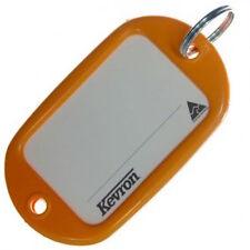 Motel Key Tags 12 Orange Plastic KEVRON Tags W/Ring -12pcs-FREE POST