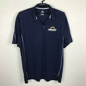 Majestic Cool Base San Diego Chargers Polo Shirt Size 2XL Navy Blue Short Sleeve