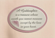 GODDAUGHTER Is Treasure Worth Measure LOVE IN HEART Baptism verses poems plaques