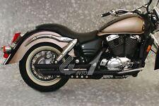 """MAC 2into2 Black 2.25"""" Slashback Drag Exhaust - Honda VT1100C3 Shadow Aero 98-02"""