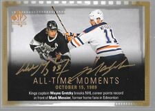 15/16 SP Authentic All Time Moments Dual Auto Gretzky Messier 155 Oilers Kings
