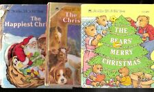 Vtg Childrens Tell A Tale Books Lot Happiest Christmas Bears Merry Animals Eve