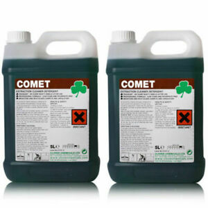 Clover Comet Extraction Carpet Cleaner Floor Detergent Shampoo Cleaning 2x5Ltr