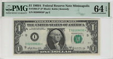 1969 A $1 FEDERAL RESERVE STAR NOTE MINNEAPOLIS FR.1904-I* PMG CHOICE UNC 64 EPQ