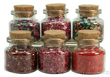 Medley Glitters Set of Corked Jars - 311-M-0605 - German Glass Glitter