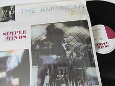 "Simple MINDS-THE AMERICAN-VS410-12 - VINYL - 12"" - Single-RECORD-NEW WAVE - 1980 S"