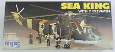 MPC 1/72 Sea King SH-3 Helicopter With Ground Crew 2-0207 Rare Vintage Kit
