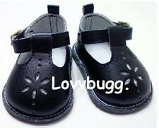 """Black T-Strap Mary Janes for 18"""" American Girl Doll Shoes $1 SHIPS MOST ADDONS🐞"""