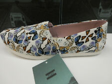 Toms Womens Classics Canvas Multi Radial Butterfly Print 8