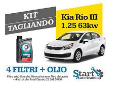 Kit Tagliando Olio Total + Filtri Tecneco Kia Rio III 1.25 (UB) 63KW