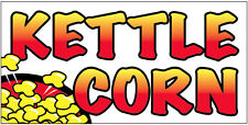 "12x6"" Food Truck Restaurant Store Sign DECAL STICKER - KETTLE CORN wb"
