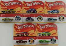 Hot Wheels Classic 50th anniversary Redline Set 5 pcs mit Button 1:64