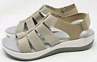 Clarks Cloudsteppers Arla Shaylie Ortholite Fishermen Women's Sandals Sz US 8.5M