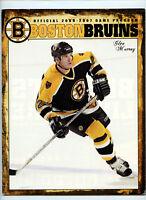 2006 2007 Boston Bruins Official Team Game Day Program Glen Murray NHL Hockey
