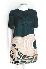 No 21 Green Front Twist Swirl Print Shift Dress It 42 uk 10