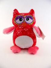 Plush Hot Pink Owl Snowflakes Toy Christmas Gift Decoration Polyester Fiber