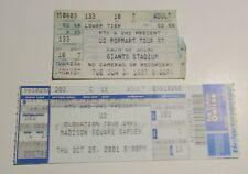 1997/2001 U2 Concert Ticket Stub VG 4.0 NJ & NY LOT of 2 Popmart MSG