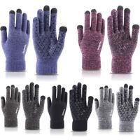 Men Women Knitted Screen Gloves Winter Wool Plush Outdoors Warmer Couple Glove r