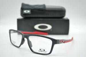 NEW OAKLEY OX8153-0655 METALINK BLACK/RED AUTHENTIC EYEGLASSES FRAME RX 55-17
