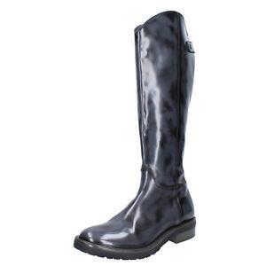 Women's shoes MOMA 7 (EU 37) boots gray shiny leather BK293-37