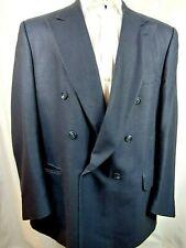 BURBERRYS Mens Wool Navy Blue Blazer Jacket Double Breasted 48L